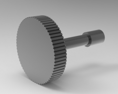 Autodesk Inventor 3D CAD Model of Knurled type Bolt for Cover Plate, M4L5, A16