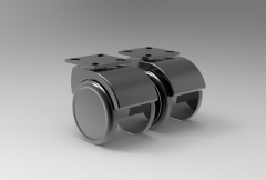 Fusion 360 (step file) 3D CAD Model of Swivel castor with lock Ø  x width-52x8+8H=63       Load Capacity-40