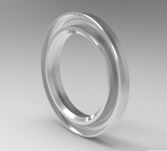 Solid-works 3D CAD Model of Buffer Rings sealing, Fd1 (mm)40Fd2 (mm)55.5h (mm)6