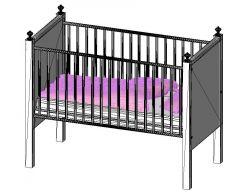 Crib Baby Bed Revit Family