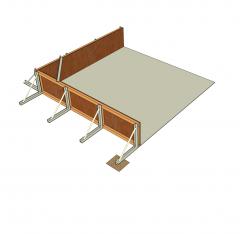 Concrete formwork Sketchup model