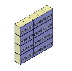 Lockers 3D DWG block