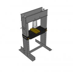 Hydraulic press Sketchup model