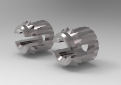Solid-works 3D CAD Model of Bush with two locking rings, M4 X 0.70        L (mm)-5 Ø A (mm)-6