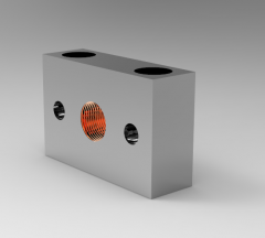 Solid-works 3D CAD Model of Plate for Mounting M 20