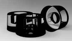 Solid-works 3D CAD Model of Rubber impact buffers for door H=35   D1=7, D=40