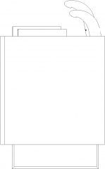 550mm Width Hair Washer Right Elevation dwg Drawing