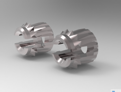 Solid-works 3D CAD Model of Bush with two locking rings, M5 x 0.80        L (mm)-6 Ø A (mm)-7
