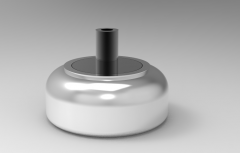 Autodesk Inventor ipt file 3D CAD Model of Air Spring, Weight 0.90 lbs,  Air Port Thread=3/8 in