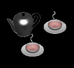 Tea set 3DS Max model