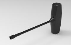 Autodesk Inventor ipt file 3D CAD Model of  forged tee-handled: A(mm)=10B(mm)=14C(mm)=50D(mm)=130E(mm)=85L(mm)=160