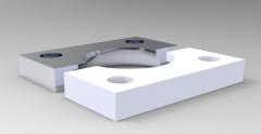 Solid-works 3D CAD Model of flange base for gas pressure spring A (mm)50 b (mm)35d1 (mm)28.5 d2 (mm)32.5