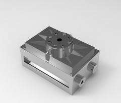 Solid-works 3D CAD Model of Rotary indexing tables  ,  Weight=320gTorque=167NcmStroke=6x60°