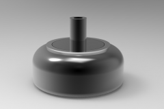 Autodesk Inventor ipt file 3D CAD Model of Air Spring, Weight 0.15 lbs,  Air Port Thread=1/8 in