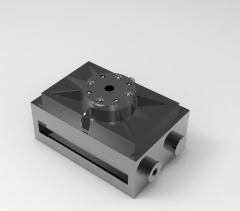 Solid-works 3D CAD Model of Rotary indexing tables  ,  Weight=320gTorque=181NcmStroke=8x45°