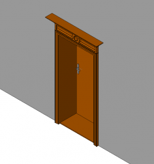 Ornate door Revit model