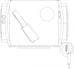 585mm Width Manure Storage Plan dwg Drawing