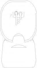 585mm Width Portable Hair Salon Wash Basin Plan dwg Drawing