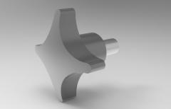 Autodesk Inventor ipt file 3D CAD Model of Cross Knob, M=6,  Lf=12, D=32