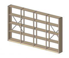 Lundia Storage Adjustable Shelving Revit Family 1