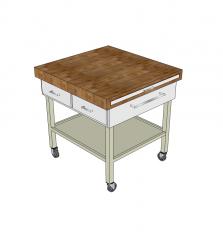 Modello di cucina mobile isola skp