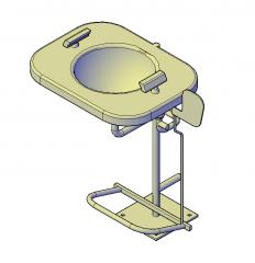Eye wash station 3D DWG block
