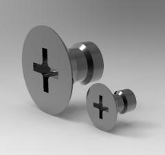 Autodesk Inventor 3D CAD Model of Flat Head Screw M4, A8