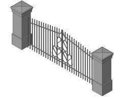 Window Iron Double Gate Revit Family