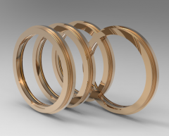 Solid-works 3D CAD Model of Flanged Design Bearing Isolator  29602-0028