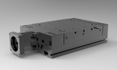 Solid-works 3D CAD Model of  Linear table with ball rail system & screw-type, Pitch Dia=75        Centring=60Shaft Dia=11 F key=noThread=M5