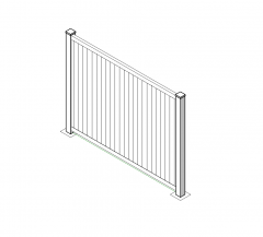 Vinyl fencing panel Revit model