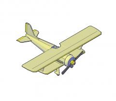 Modello Biplano 3D DWG