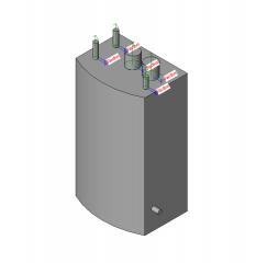 Gas boiler Revit model