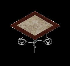 mesa de tapa de mármol