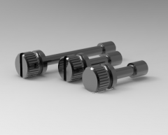 Autodesk Inventor 3D CAD Model of  Knurled thumb screw B M3X20 waisted shank