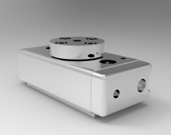 Solid-works 3D CAD Model of Rotary Modules for Swivelling units,  Weight= 234gTorque=28NcmStroke=190°