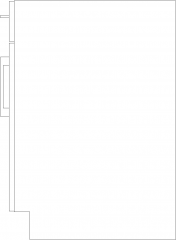 610mm Wide Height Linen Cabinet Right Side Elevation dwg Drawing