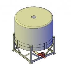 Waste water holding tank 3D DWG model