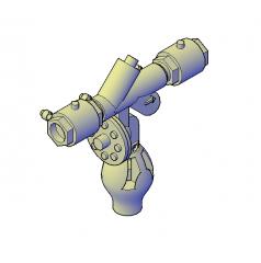 Backflow preventer 3D DWG block