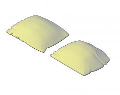 Pillows 3D DWGモデル