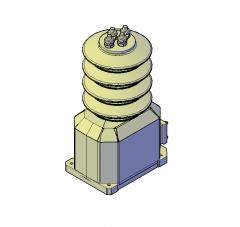 Current transformer 3D DWG model