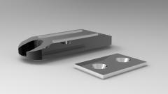 Solid-works 3D CAD Model of Magnetic Buckle, L=49P=34