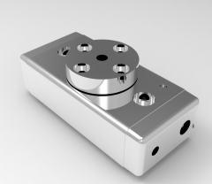 Solid-works 3D CAD Model of  Rotary Modules for Swivelling units,  Weight= 557gTorque=56NcmStroke=190°