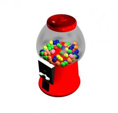 Candy dispenser 3DS Max model