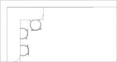 6.22sqm Mini Bar Counter with Three Bar Stool and Shelves Plan dwg Drawing