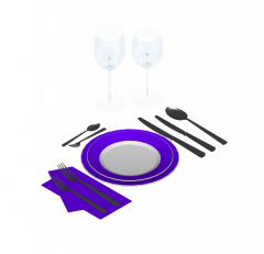 Table setting 3DS Max model