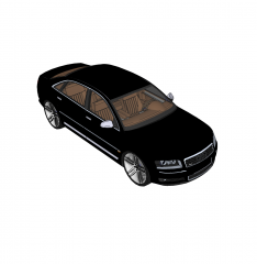 Audi A8 sketchup block