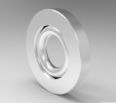 Solid-works 3D CAD Model of Double acting piston sealing washer D (mm)15d (mm)7.5L (mm)3.2