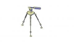 Camera tripod 3D DWG model