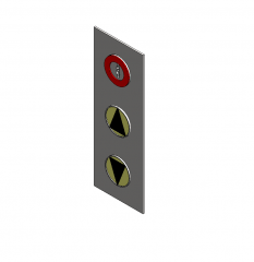 Elevator call panel Revit model